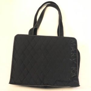 Mary Kay travel bag black quilted consultant tote